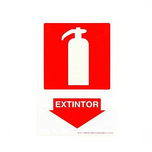 Placa de Sinalização de Extintor Fotoluminescente Sinalize 20x30cm Placa de Sinalização para extintor 15 x 15 cm - Fotoluminescente