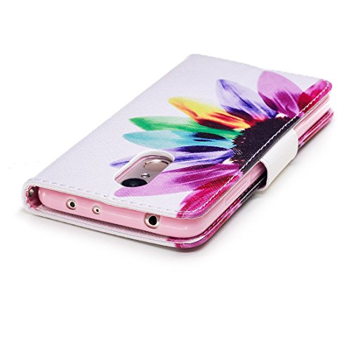 étui protection fente carte en cuir Xiaomi support avec Redmi d'impression magnétique avec cas de Flip conception Flowers en peint portefeuille Hozor 5 fermeture PU aérosol pour 7PAT1gWW