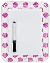 LockerLookz Locker Dry Erase Board - Pink Polka Dot- 1 piece
