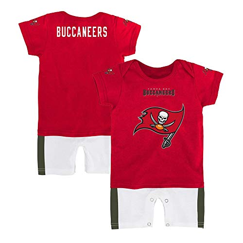 - Outerstuff NFL Tampa Bay Buccaneers Boys Fan Jersey Romper, Red, 12 Months