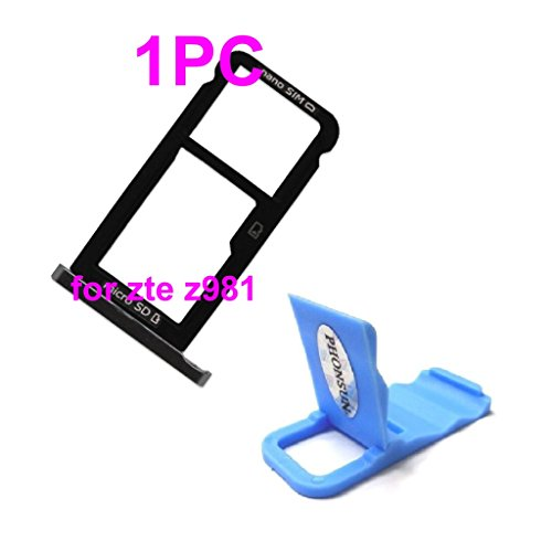 Sim Card Micro SD Tray Holder Slot Repair Replacement for ZTE ZMAX Pro Z981 + PHONSUN Portable Cellphone - Sim Pro