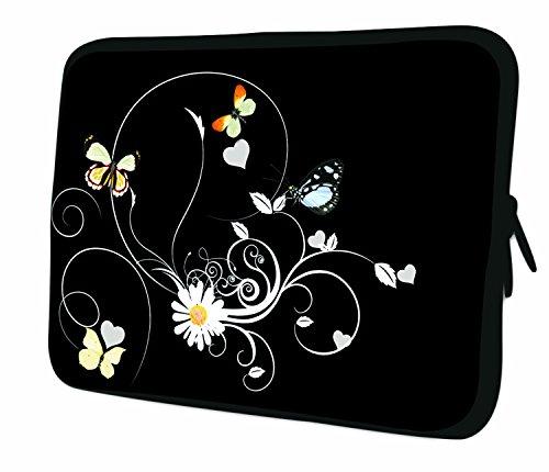 "7.9""Design ipad mini/iPad Mini 2/iPad Mini 3funda suave carcasa Bolsa Pouch Skin. Ajuste perfecto. Diferentes patrones Disponible. (parte 1de 3) blanco/amarillo (Flowers)"