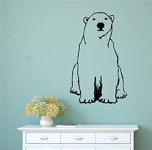 Polar Bear Vinyl Wall Words Decal Sticker Graphic (Bear Artwork Polar)