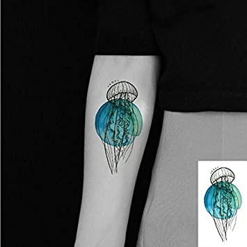 Tatuaje temporal a prueba de agua pegatina acuarela rosa azul ...