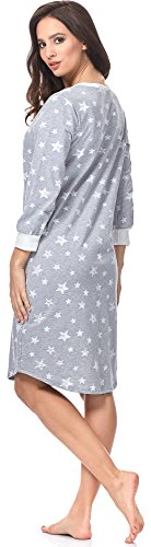 Italian Fashion IF Mujer Camisones Premamá Comet 0111 Melange/Blanco