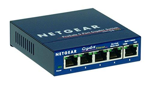 Netgear GS105 Prosafe 5 Port 10/100/1000 Gigabit Slimline Network Switch