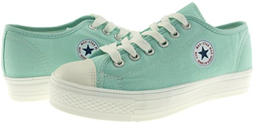 mint C1 Maxstar 1 Canvas Low Casual 6 C1 6h Shoes Holes Sneakers 8Z1Pq