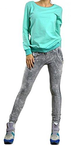 Zeta Ville - Pulóver jumper sudadera boyfriend - cuello redondo - mujer - 071z Menta
