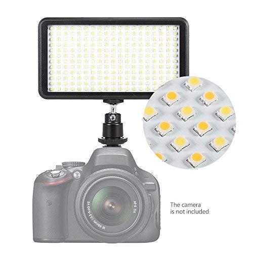 Andoer Ultra-thin 228pcs LED Video Light Panel 3200K / 6000K Dimmable Studio Photography Lamp for Canon Nikon Sony Pentax Panasonic Olympus Digital SLR Cameras Camcorders