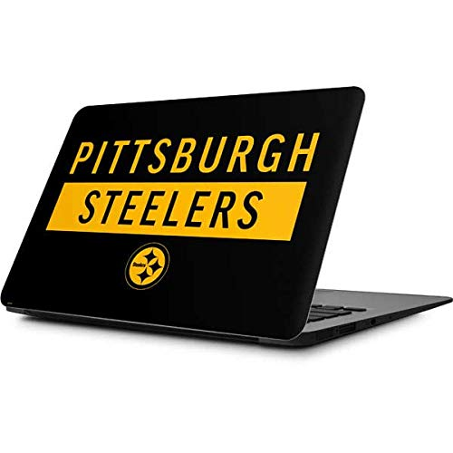 Skinit Pittsburgh Steelers Black Performance Series MacBook Air 11.6 (2010-2017) Skin - Officially Licensed NFL Laptop Decal - Ultra Thin, Lightweight Vinyl Decal Protection