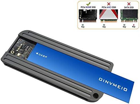 Adaptador USB 3.1 UASP a PCIe NVMe M.2, Carcasa NVMe (Llave M ...