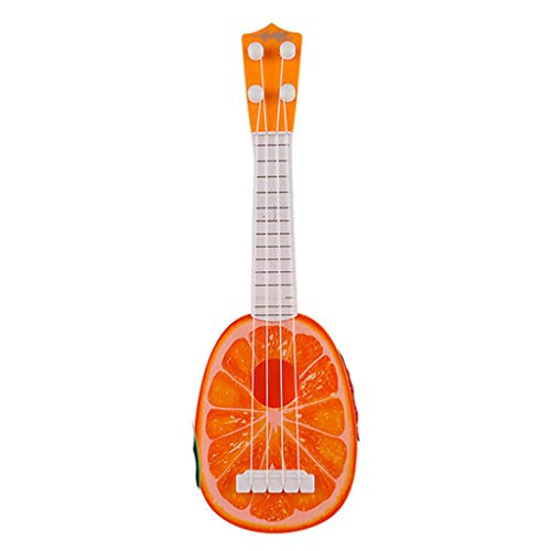 LtrottedJ Kids Wooden Toy Sturdy Ukulele Non-Toxic Musical Instrument Preschool Music (C)