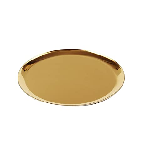 Espejo de metal soporte de pastel de cristal Bandeja de ...