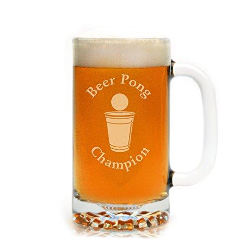 Engraved Beer Pong Champion 16 oz. Drinking Mug ()