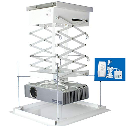 Projector Lift Electric - Electric Projector Lift Ceiling Projector Hanger Smart Lift Automated Projector Mount Lift Office Conference Projector Lift/Wireless Remote (Customizable) (Running Distance: 0.7 M)
