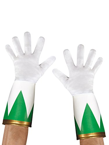 Disguise Men's Green Ranger Adult Costume Gloves, Green, One Size -