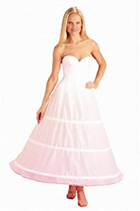 3 Bone Hoop Skirt Bridal Wedding Gown Slip (CH130DS)