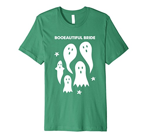 Ghost Bc New Costumes (Mens Funny Halloween T-Shirt - Ghosts - Booeautiful Bride Large Kelly Green)