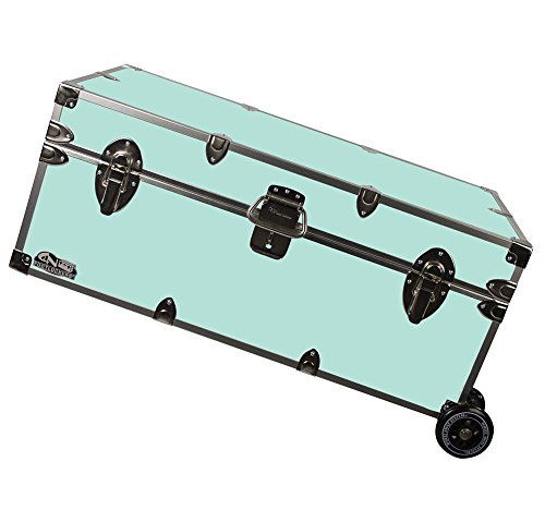 Happy Camper Footlocker Trunk with Wheels 32x18x13.5 (Amazon)