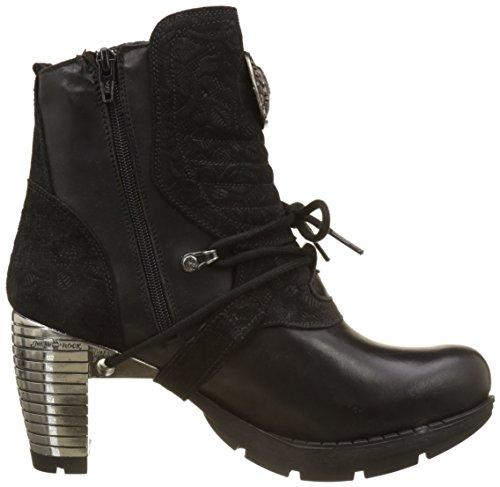 New Rock M-tr061-s4, Stivali da Motociclista Donna Nero (Black 001)