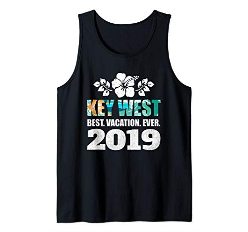 Key West T Best Vacation Ever 2019 Souvenir Gift Tank Top