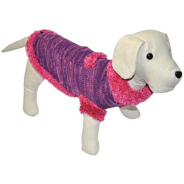 Nayeco - Jersey de Punto para Perros, Color Fucsia-Lila, con ...
