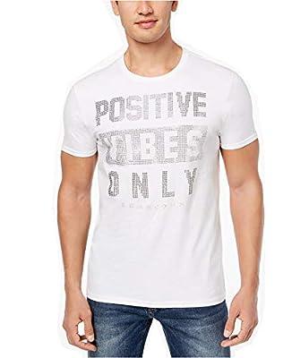 Sean John Men's Positive Vibes Only Rhinestone T-Shirt