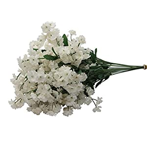 Admired By Nature Artificial Full Blooming Baby Breath Flowers Spray for Home, Wedding, Restaurant & Office Decoration Arrangement, 3 Stems (48 Pieces Spray) 88
