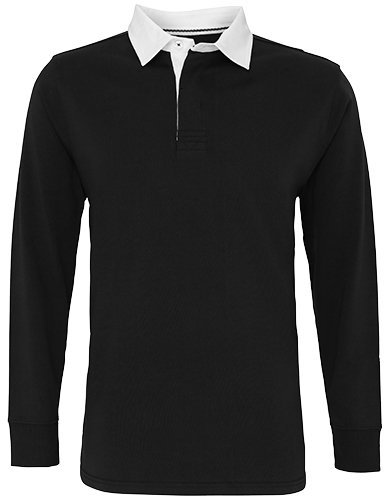 Asquith & Fox Mens Classic Fit Long Sleeve Vintage Rugby Shirt (2XL) (Jersey Vintage Rugby)