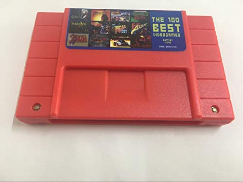 - 100 in 1 Game Cartridge 16 Bit SNES game card the 100 best video games cartridge battery save SNS-100- USA for Super Nintendo