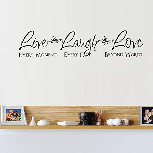 Bedroom Wall Stickers Live Laugh Love Wall Decals Home Decor Living Room DIY Art Mural Poster 121X25CM