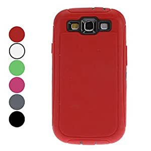 Detachable Double-Color Protective Hard Case with Mirrored Screen Protector for Samsung Galaxy S3 I9300 (Assorted Colors) --- COLOR:Rose