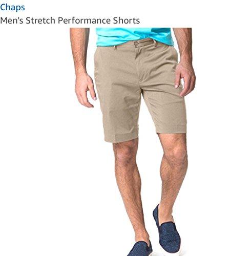Chaps Men's Stretch Performance Shorts (Crwfrd Tan, ()
