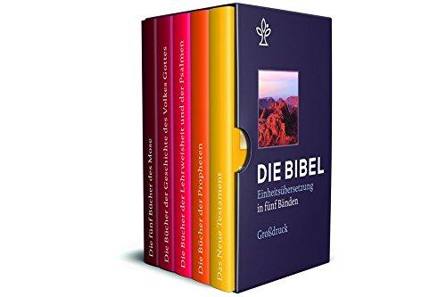 die-bibel-einheitsbersetzung-der-heiligen-schrift-gesamtausgabe-bibel-in-5-einzelbchern-in-geschenkkassette-grossdruck-gesamtausgabe-revidierte-einheitsbersetzung-2017