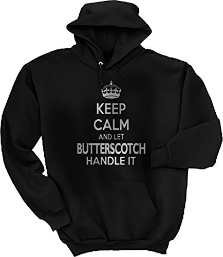 Threads of Doubt Keep Calm and Let Butterscotch Handle It! Hoodie Butterscotch Handle