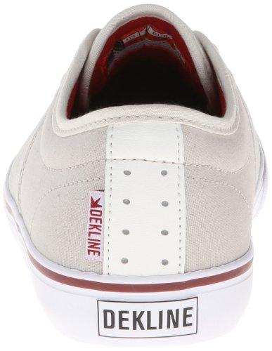 Dekline Mens Bixby Skate Chaussure Argile / Blanc