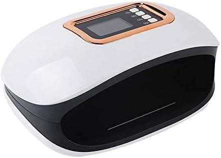 36デュアル光源のLED 4タイマ設定で72W LEDネイルドライヤー速乾性LED UVネイルドライヤー (Color : White, Size : EU)