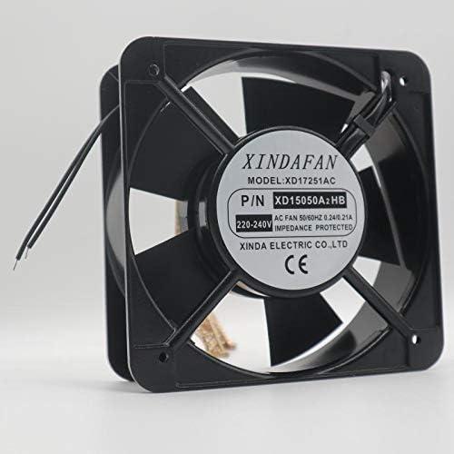 for XINDAFAN XD17251AC XD15050A2HB 220-240V 0.24//0.21A 15cm Cooling Fan