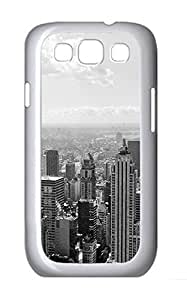 case mate Samsung S3 cover Black And White City PC White cover custom Samsung S3