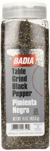 (Badia Black Pepper Table Grind, 16 Ounce)
