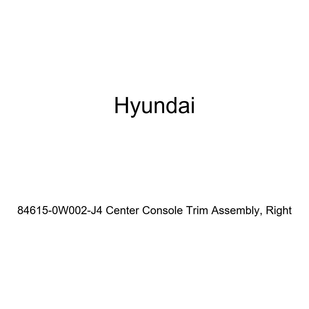 Right Genuine Hyundai 84615-0W002-J4 Center Console Trim Assembly