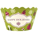 Bella Cupcake Couture 12-Pack Happy Holidays Cupcake Wrappers