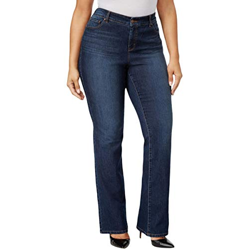 Style&Co. Womens Plus Tummy Control Bootcut Bootcut Jeans Blue 20W