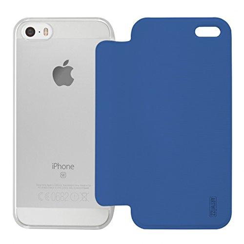 Artwizz 0401�?790smartjacket Étui à rabat pour Apple iPhone se/5/5S Bleu