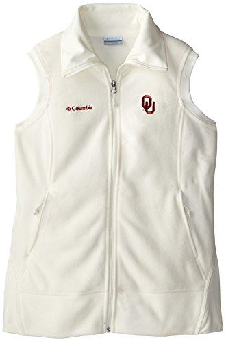 Columbia NCAA Oklahoma Sooners Give and Go Vest, Sea Salt, Small Big Game Microfleece Jacket