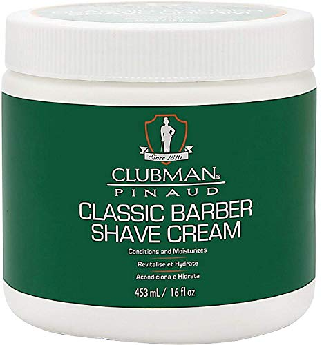 Clubman Pinaud Classic Barber Shave Cream 16 oz (Pack of 4)
