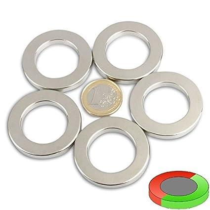 Quadermagnet 40,0 x 10,0 x 5,0 mm N42 Nickel h/ält 8 kg