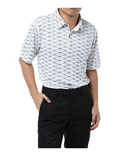 ツアーディビジョン ゴルフウェア ポロシャツ 半袖 ジオメトリックプリント半袖シャツ TD220101H03 WH L