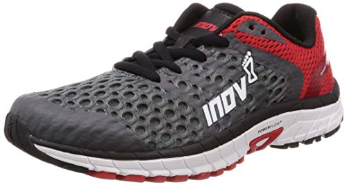 (Inov-8 Mens Roadclaw 275 V2 - Road Running Shoes - Versatile Shoe for Road, Parks and Tracks - Grey/Red 10 M US)