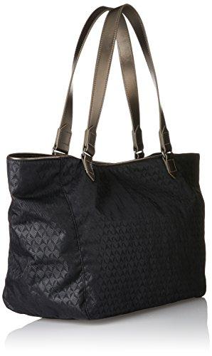 Kipling Lots Of Bag, Borse a secchiello Donna Nero (Black Ink Emb)